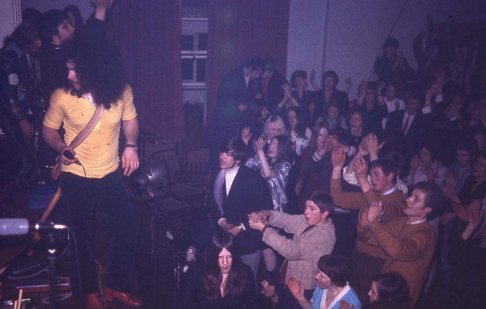 Edgar Broughton Band at Leek High School, Spring 1970.
