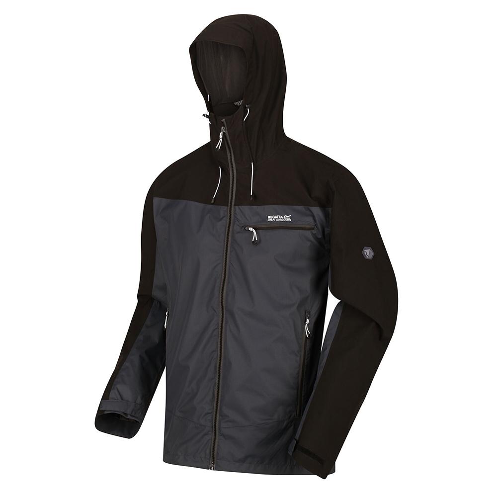 Men's Highton Waterproof Jacket Ash Black
