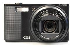 Ricoh CX2 vs Ricoh CX3: CX3 front view