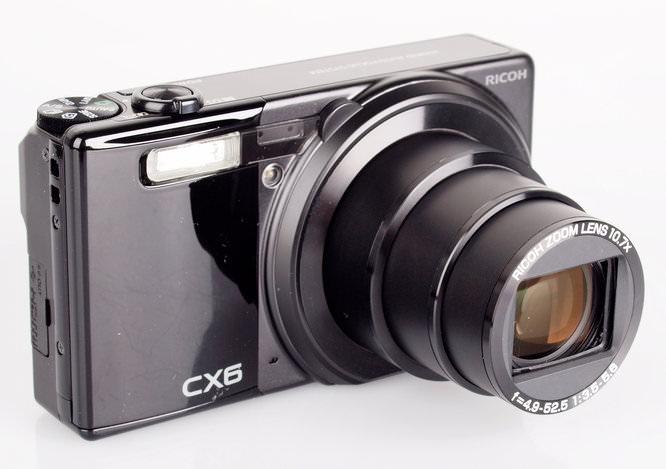 Ricoh CX6 Lens Extended