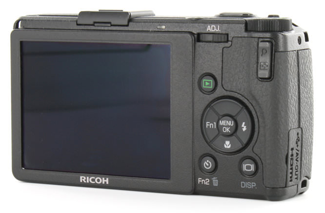 Ricoh GR Digital IV Back