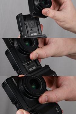 Ricoh GXR fitting the lens