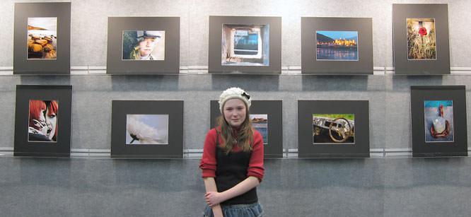 Saskia Slavin in front of her panel