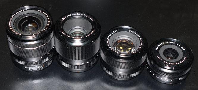 Fujifilm Current Lens Lineup
