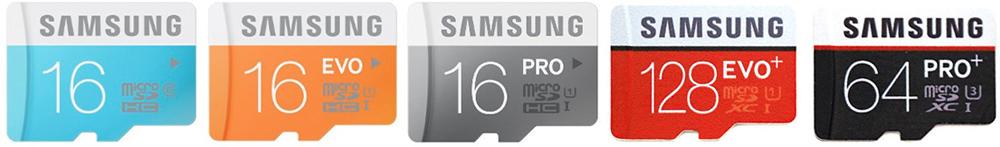 Samsung MIcroSD cards