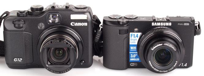 Canon Powershot G12 Samsung EX2F (2)