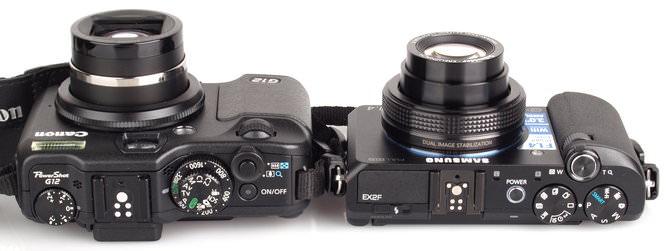 Canon Powershot G12 Samsung EX2F (3)