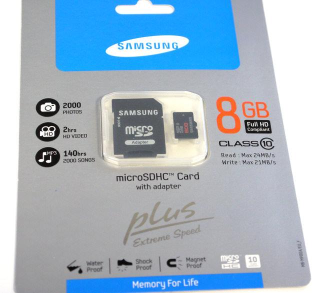 8Gb MicroSDHC Class 10