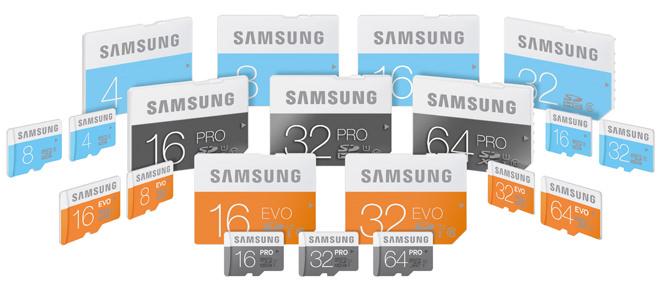 Samsung micro SD cards