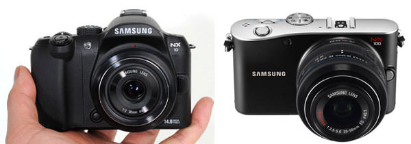 Samsung NX10 and Samsung NX100