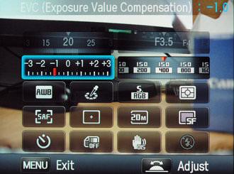 Samsung NX200 Rear Screen