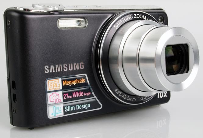 Samsung PL210 Digital Compact Camera front lens