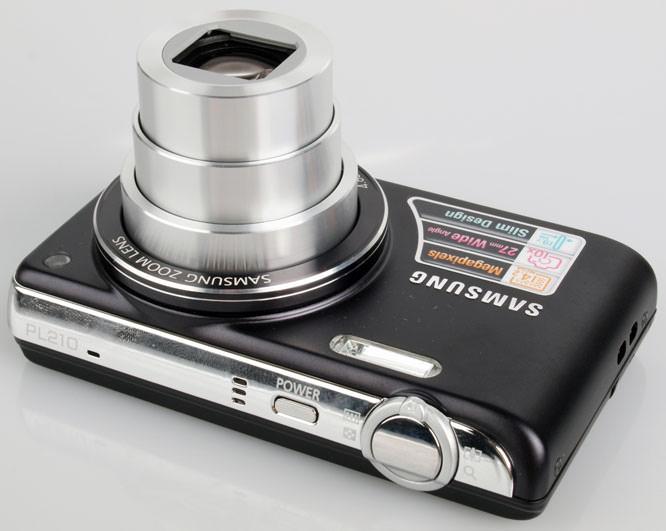 Samsung PL210 Digital Compact Camera top