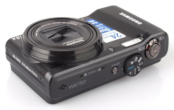 Samsung WB750 Top Angle