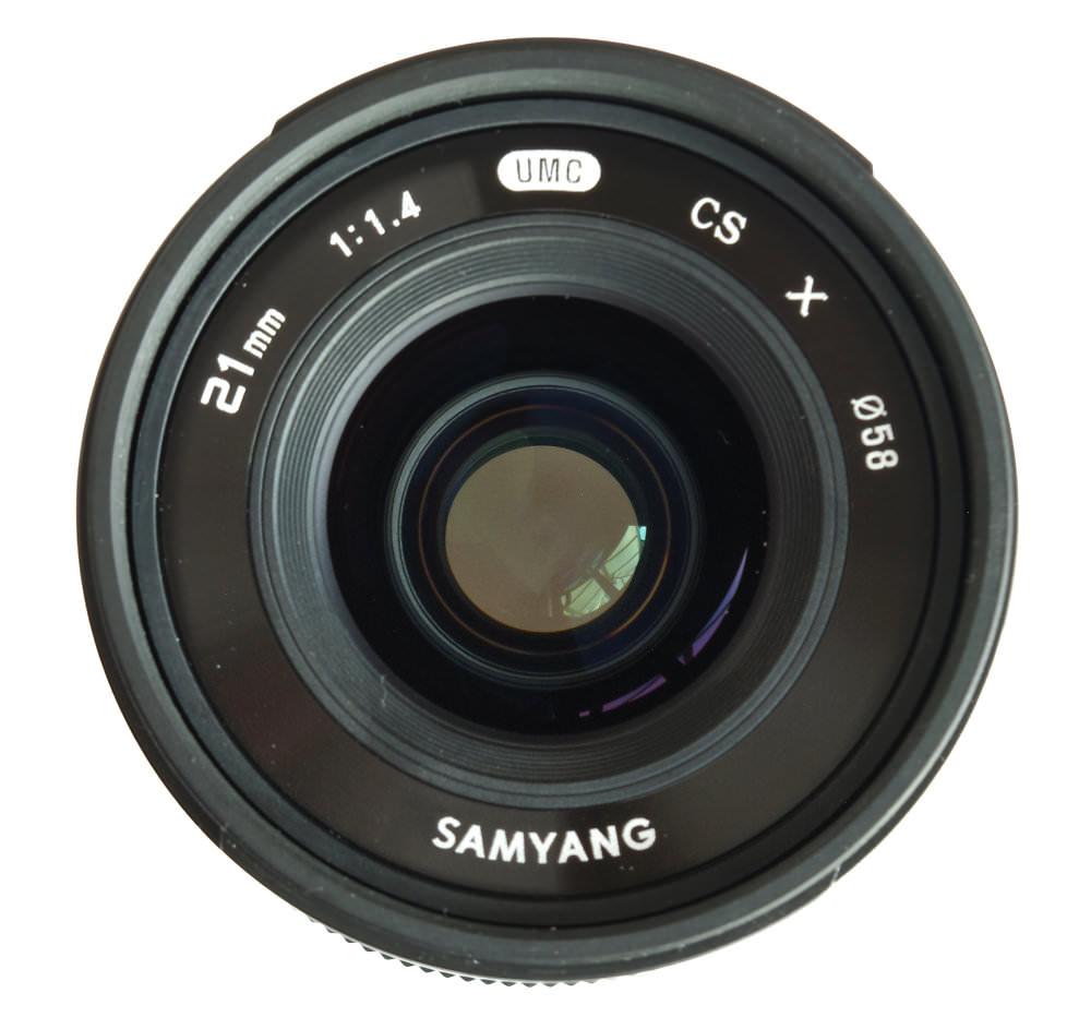 Samyang 21mm F1,4 Lens Front View