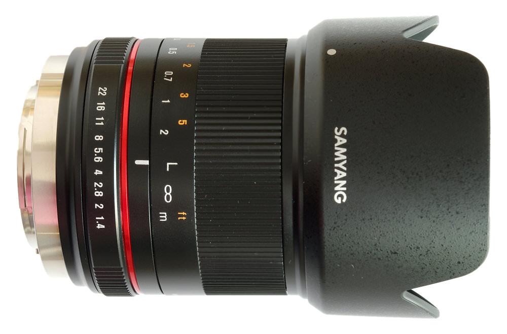 Samyang 21mm F1,4 Lens With Hood