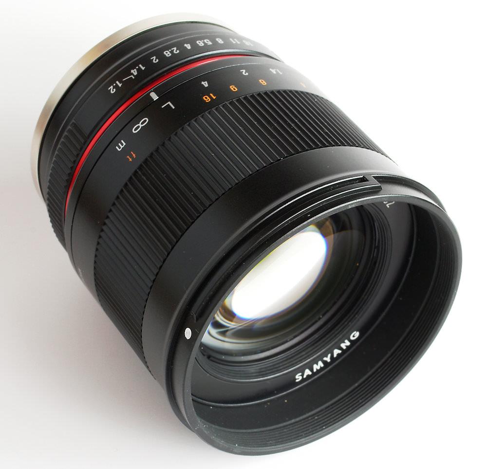 Samyang 50mm F1,2 Front View