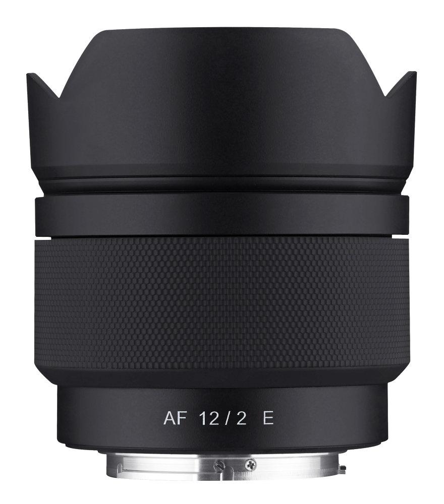 Samyang AF 12mm F2 E Top With Hood