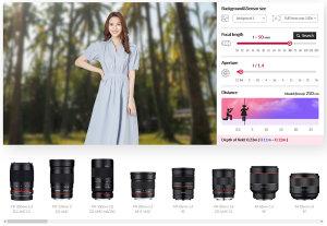 Samyang Online Lens Simulator Announced