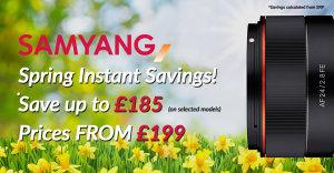 Samyang Spring Instant Savings Finishing 31 March