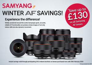 Save Up To £130 On All Samyang AF Lenses