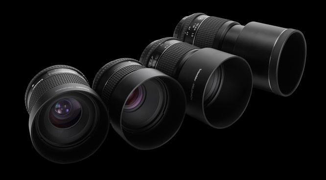 Schneider Kreuznach 55 mm LS, 80 mm LS, 110 mm LS and 150 mm LS lenses