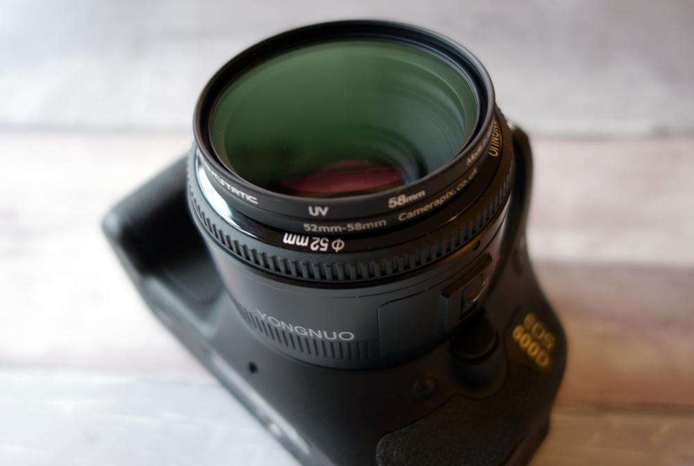 Filter on camera