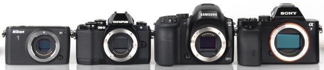 Nikon 1, Olympus OM-D, Samsung NX, Sony Alpha A7