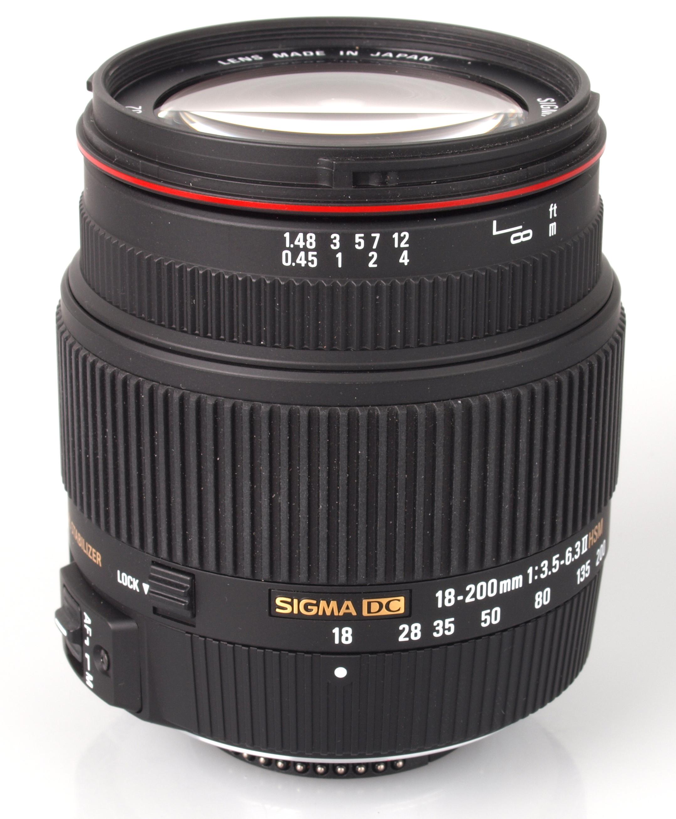 Amazon.com : Sigma 18-200mm f/3.5-6.3 DC Auto Focus OS (Optical ...