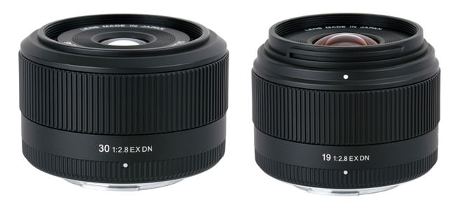 Sigma 19mm F2.8 EX DN and 30mm F2.8 EX DN lenses