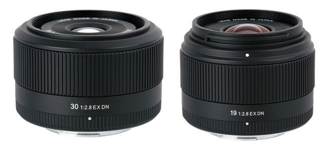 Sigma 19mm F2.8 EX DN and 30mm F2.8 EX DN lenses