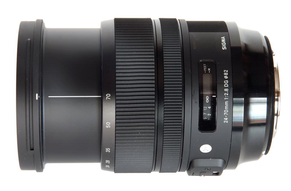 Sigma 24 70mm F2,8 Art Top View No Hood At 70mm