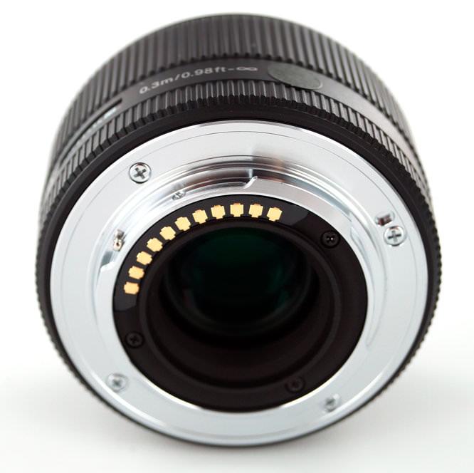 Sigma 30mm Micro Four Thirds Lens Rear