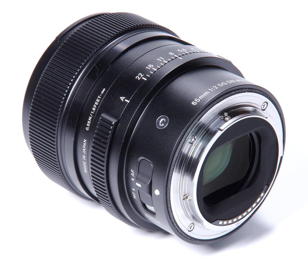 Sigma 65mm F2 Rear Oblique View