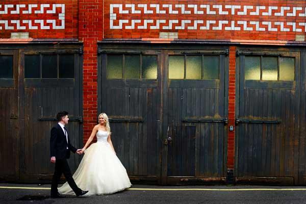 Urban wedding shoot
