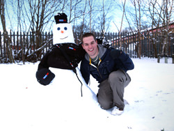 Snowman and a person makes a great portrait