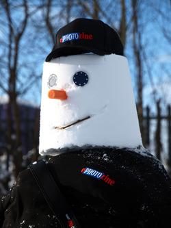 Snowman head shot