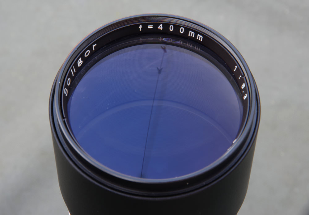 Soligor 400mm F6,3 Front Element View