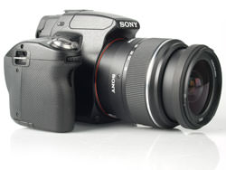 Sony Alpha A55 front with lens