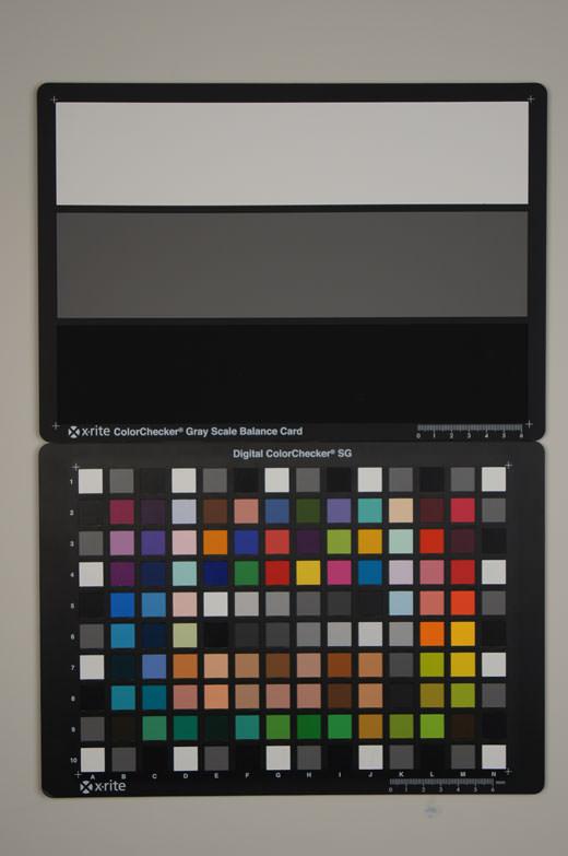 Sony Alpha A55 Test chart ISO100