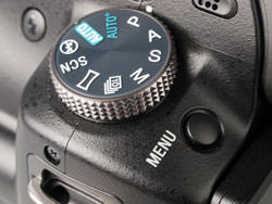 Sony Alpha A55 mode dial