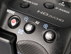Sony Alpha A55 buttons on top