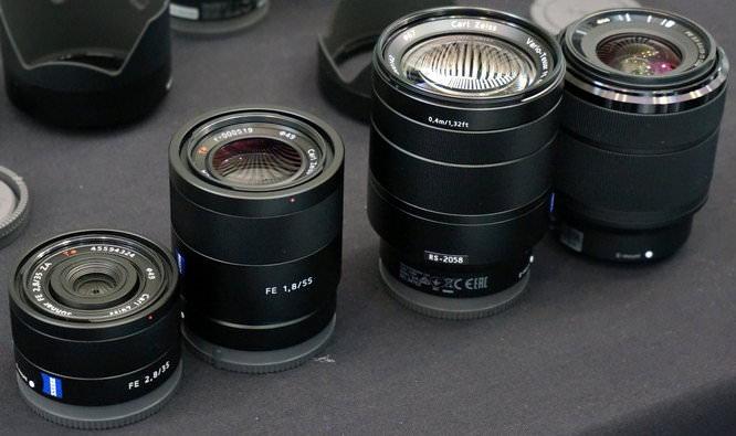 Sony Alpha FE Mount Lenses Carl Zeiss 35mm 55mm 24 70 28 70 (1)