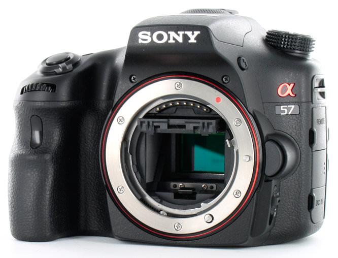 Sony Alpha A57 Front Sensor Angle