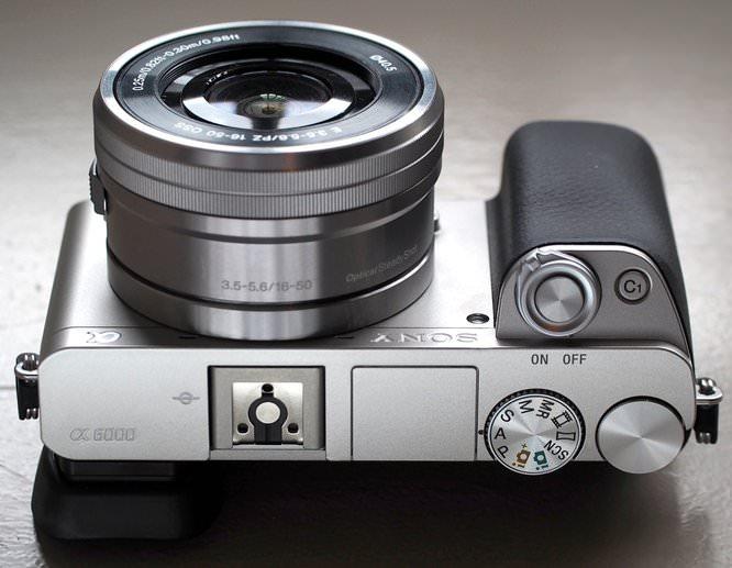 Sony Alpha A6000 Silver Top