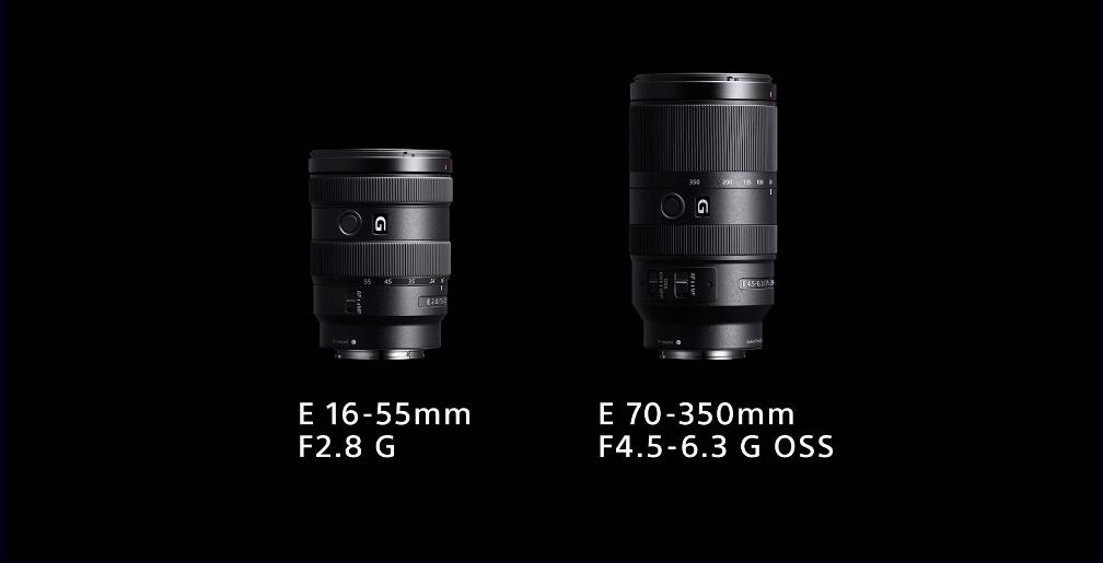 New E-Mount lenses