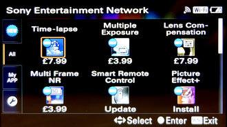 Sony Alpha A5000 App Store