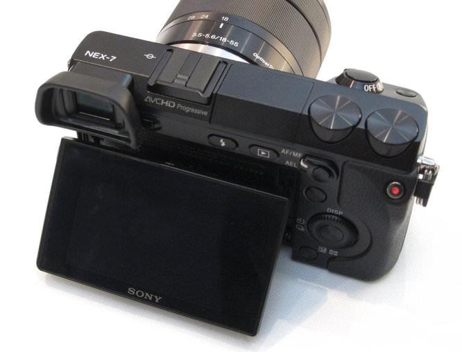 Sony NEX-7 Screen Tilted