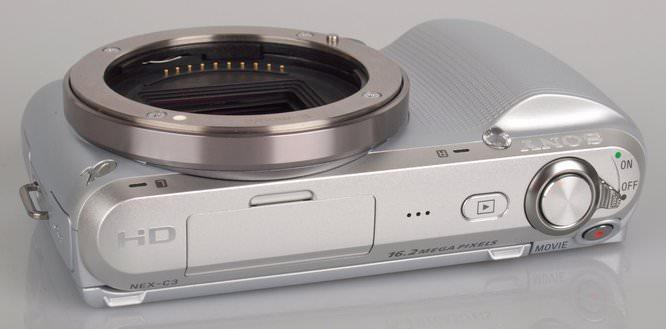 Sony NEX-C3 Top