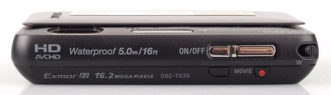 Sony Cyber Shot DSC TX20 Top
